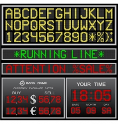 Electronic alphabet vector