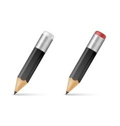 Black wooden sharp pencils vector