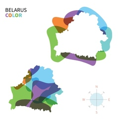 Abstract color map of belarus vector