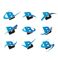 Alphabet b logo icons vector