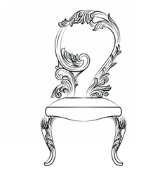 Baroque luxury style chair isolated vector