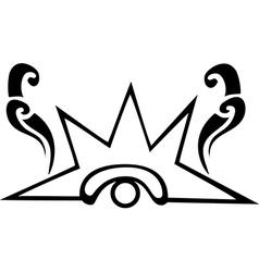 Black and white venus eye glyph vector