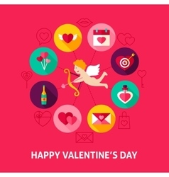 Concept Happy Valentines Day vector image