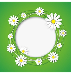 Creative abstract background with chamomile flower vector image vector image