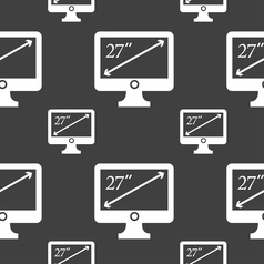 Diagonal of the monitor 27 inches icon sign vector