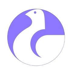Dove white symbol vector