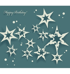 Elegant birthday card with stars vector