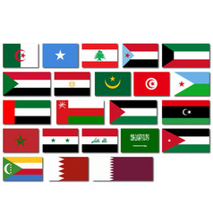 flags of the arab league vector image