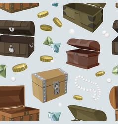 Hidden treasures set pattern vector