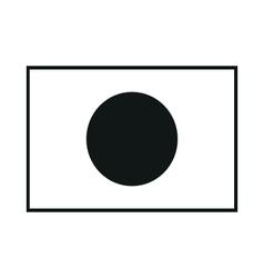Japan flag monochrome on white background vector