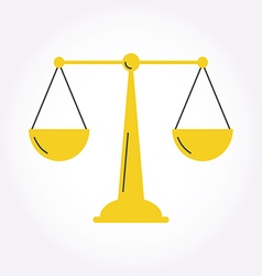 Justice balance libra icon symbol logo modern styl vector