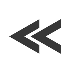 Left arrow with triangles design icon vector