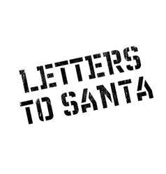 Letters to santa rubber stamp vector