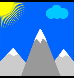 mountains and sun vector image