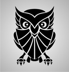 Owl Tribal vector image vector image
