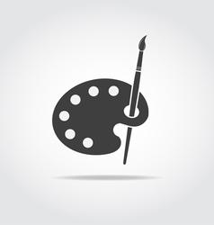Palette Art Brush Black Icon vector image