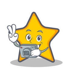 Photography star character cartoon style vector
