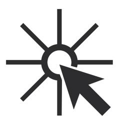 pointer arrow clicking icon vector image