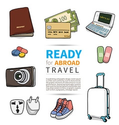 Ready for abroad travel vector image vector image