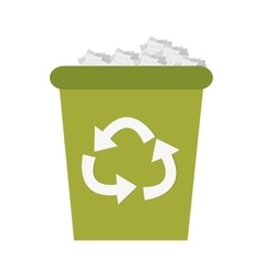 recycling bin icon vector image
