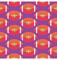 Seamless Rugby Pattern vector image vector image