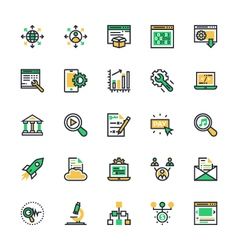 SEO and Marketing Colored Icons 5 vector image vector image