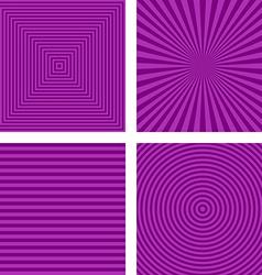 Simple purple striped pattern background set vector