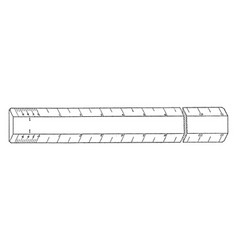 Single scale ruler distances or to rule straight vector