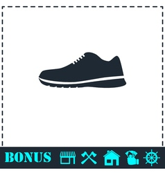Sneakers icon flat vector