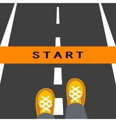 Start line road sign vector