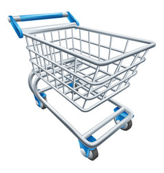 supermarket shopping cart trolley vector image