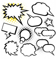 talking bubble vector image vector image