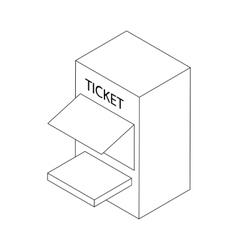 Ticket window icon isometric 3d vector