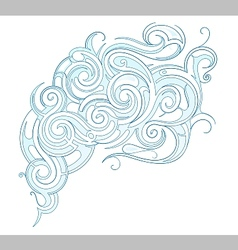 Water ornament vector image vector image