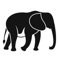 Wild elephant icon simple style vector