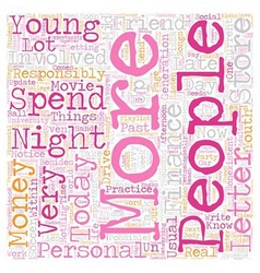 Young people and personal finance text background vector