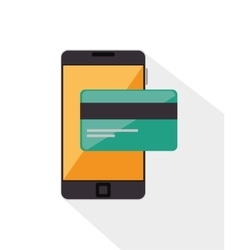 Credit card bank online mobile phone vector