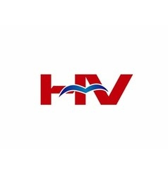 V and H logo vector image