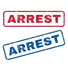 Arrest rubber stamps vector