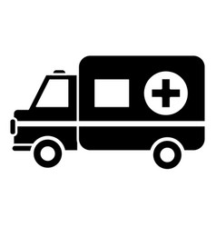 Contour ambulance emergency care life vector