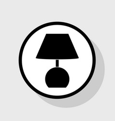 Lamp sign   flat black icon in vector