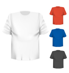 Blank t-shirt any color over white background vector
