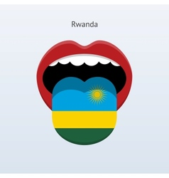 Rwanda language abstract human tongue vector