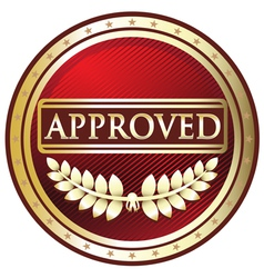 Approved red label vector