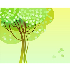 trees in bloom vector image