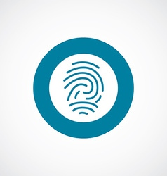 Fingerprint icon bold blue circle border vector