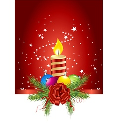 christmas ball candle vector image