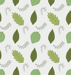 Ornate seamless pattern with the leaves vector