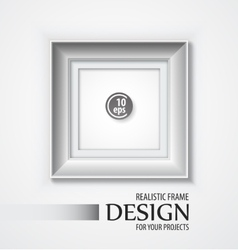 Realistic Frame vector image