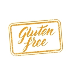 Gluten free stamp with hand drawn letterings vector